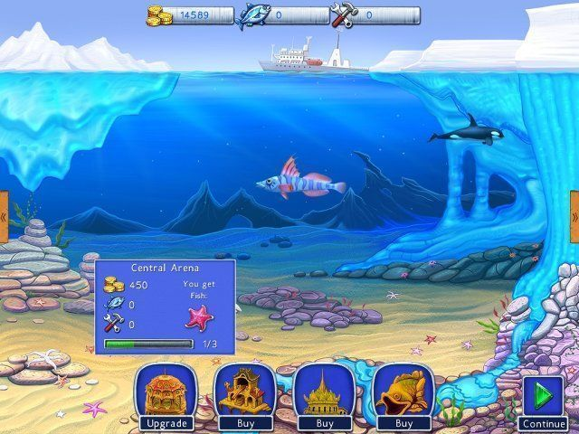 Screenshot van het spel  «Lost in Reefs: Antarctic» № 1