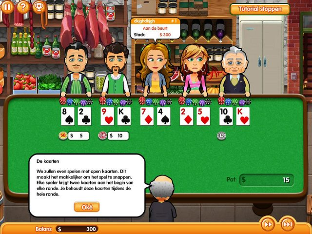 Screenshot van het spel  «Hometown Poker Hero. Premium Edition» № 3