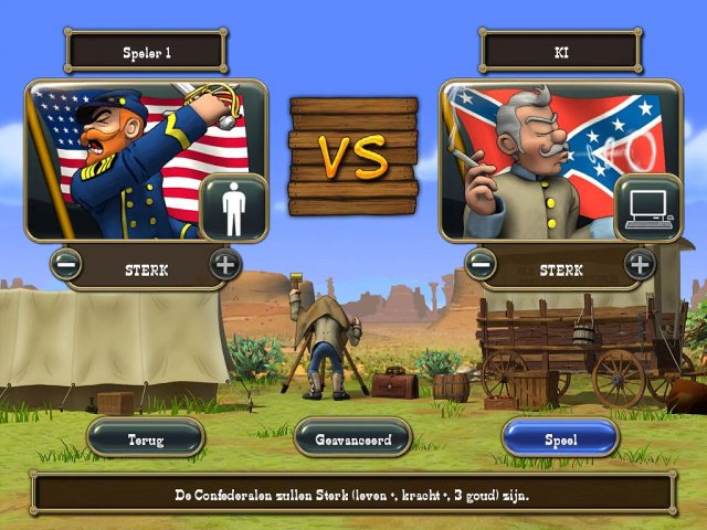 Screenshot van het spel  «The Bluecoats: North vs South» № 1