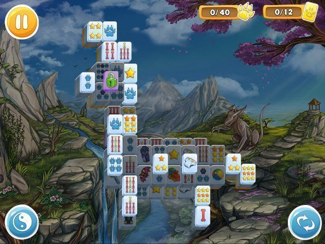 Screenshot van het spel  «Mahjong: Wolf's Stories» № 4
